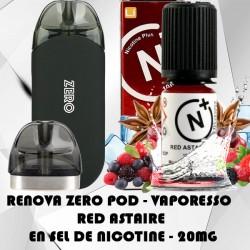 Renova Zero Pod avec Red Astaire en Sel de nicotine 20mg - Vaporesso