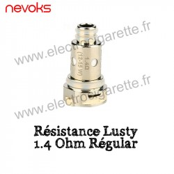 Pack de 5 x Résistances 1.4 Ohm Regular pour le Pod Lusty Nevoks