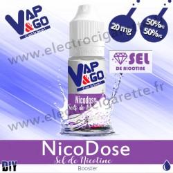 NicoDose Sel de Nicotine - Booster Nicotine - 10 ml - 20 mg - Vape & Go