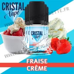 Pack de 5 x Fraise Crème - Cristal Vapes - 10ml