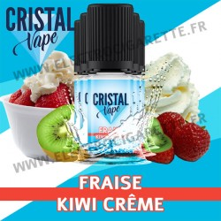 Pack de 5 x Fraise Kiwi Crème - Cristal Vapes - 10ml