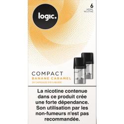 LOGIC COM 2 CAPSULES BANANE CARAMEL 6MG