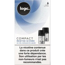 LOGIC COM 2 CAPSULES MENTHE GIVREE 6 MG