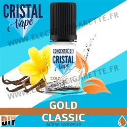 Gold Classic - Arôme concentré - Cristal Vapes - 10ml - DiY