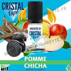 Pomme Chicha - Arôme concentré - Cristal Vapes - 10ml - DiY