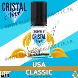 USA Classic - Arôme concentré - Cristal Vapes - 10ml - DiY