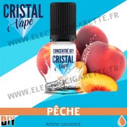 Pêche - Arôme concentré - Cristal Vapes - 10ml - DiY