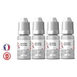 Pack 4 boosters 10ml pour avoir 6 mg de nicotine pour 100ml