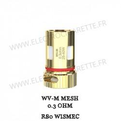 Pack de 5 x résistances WV-M 0.3 Ohm R80 Wismec
