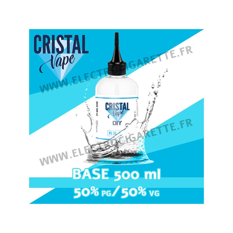 Base - Cristal Vape - 500 ml - 50% PG / 50% VG
