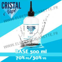 Base - Cristal Vape - 500 ml - 70% PG / 30% VG