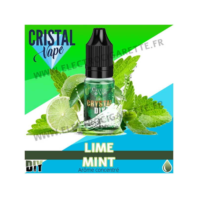 Lime Mint - Arôme concentré - Cristal Vapes - 10ml - DiY