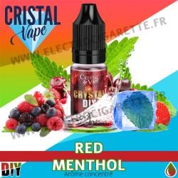 Red Menthol - Arôme concentré - Cristal Vapes - 10ml - DiY