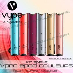 Batterie ePod COULEURS avec 1 x cable USB - Vuse (ex Vype)