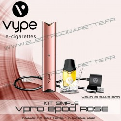 Batterie ePod Or Rose avec 1 x cable USB - Vuse (ex Vype)