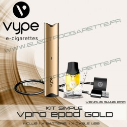 Batterie ePod Gold avec 1 x cable USB - Vype