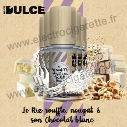 Pack 5 flacons Le riz soufflé nougat & son chocolat blanc - Dulce - DLice - 10 ml