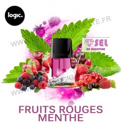 Fruits Rouges Menthe - Goût Intense - Pack de 2 x Capsules (Pod) - Logic Compact