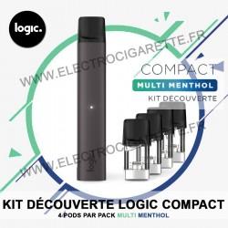 Kit découverte Logic Compact 4 x Pod Multi Menthol - Logic Compact