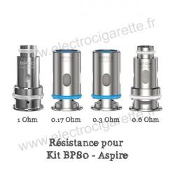 Pack de 5 x résistances BP80 pour 0.17ohm, 0.3ohm, 0.6ohm, 1ohm - Aspire