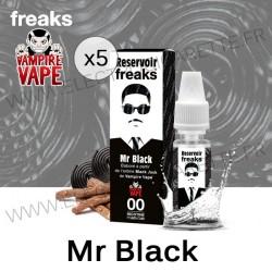 Pack de 5 x Mr Black - Réservoir Freaks - Vampire Vape - 5x10 ml