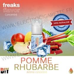 Pomme Rhubarbe - Freezy Freaks - 30 ml - Arôme concentré DiY - Sans sucralose