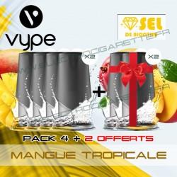 Pack EPEN3PRO Pod Vype ePen 3 Pro Mangue Tropicale - Vuse (ex Vype) - Sel de nicotine - 4 plus 2 offerts