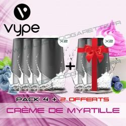Pack EPEN3 Pod Vype ePen 3 Crème à la Myrtille - Vuse (ex Vype) - 4 plus 2 offerts