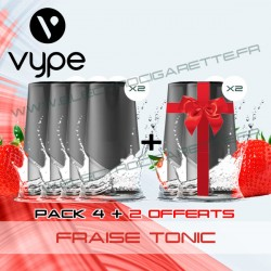 Pack EPEN3 Pod Vype ePen 3 Fraise Tonic - Vype - 4 plus 2 offerts