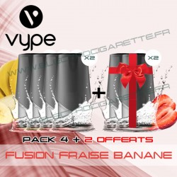 Pack EPEN3 Pod Vype ePen 3 Fusion Fraise Banane - Vuse (ex Vype) - 4 plus 2 offerts