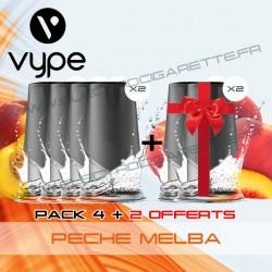 Pack EPEN3 Pod Vype ePen 3 Pêche Melba - Vype - 4 plus 2 offerts