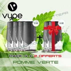 Pack EPEN3 Pod Vype ePen 3 Pomme Verte - Vuse (ex Vype) - 4 plus 2 offerts