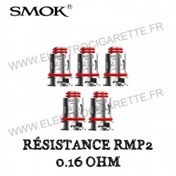Pack de 5 x Résistances 0.16 Ohm RPM2 - Smok