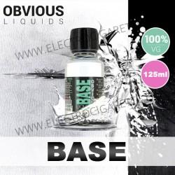 Base 100% VG - 0 mg - Obvious Liquids - 125ml