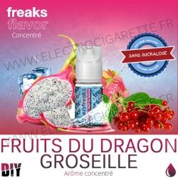 Groseille Fruit du Dragon - Freezy Freaks - 30 ml - Arôme - Sans sucralose