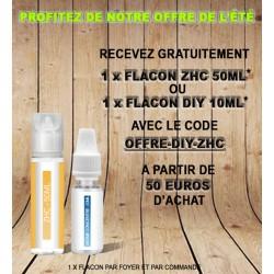 1 x flacon DiY 10ml ou 1 x flacon ZHC 50ml Offert pour 50 euros d'achat - Non cumulable