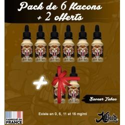 Pack de 6 flacons + 2 offerts - Saveur Tabac - XBud - 15 ml