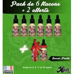 Pack de 6 flacons + 2 offerts - Saveur Fruitée - XBud - 15 ml