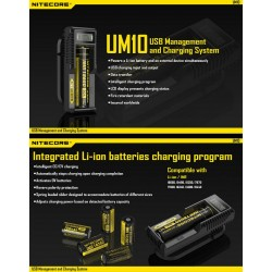 Chargeur Nitecore UM10 USB - Informations