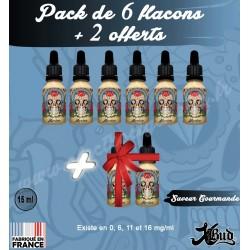 Pack de 6 flacons + 2 offerts - Saveur Gomande - XBud - 15 ml