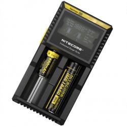 Chargeur Digicharger D2 Nitecore - Ecran LCD - Avec Accu