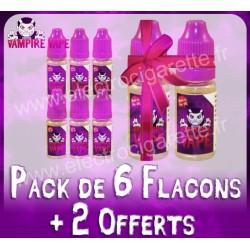 Pack de 6 flacons + 2 offerts - Vampire Vape