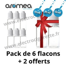 6 Flacons PET 10, 30, 50 ml + 2 offerts - Aromea