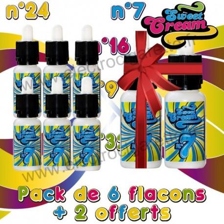 Pack 6 + 2 offerts Sweet Cream - EliquidFrance