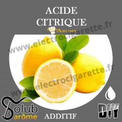 Acide Citrique E330 - Solubarome - Additif