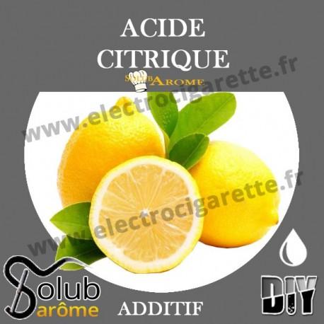 Acide Citrique E330 - Solubarome - Additif