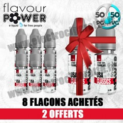Pack 8 Flacons - 2 Offerts - Premium - 50/50 - Flavour Power