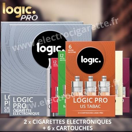 2 Cigarettes electroniques Logic Pro avec Cartouches
