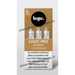 Pack de 3 x Cartouche US Gold Tabac Blond - Logic Pro
