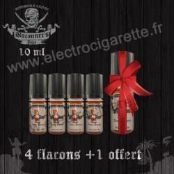 Pack de 4 flacons + 1 offert - 10 ml - Buccaneer's Juice